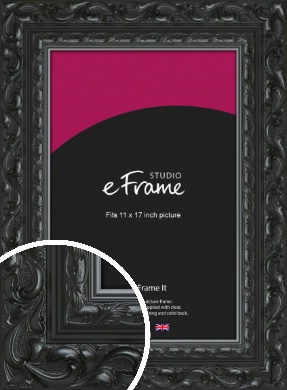 Embellished Black Picture Frame, 11x17