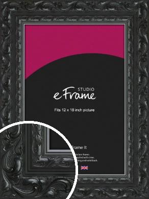 Embellished Black Picture Frame, 12x18