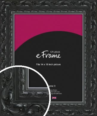 Embellished Black Picture Frame, 14x18