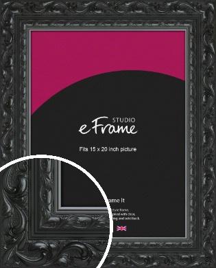 Embellished Black Picture Frame, 15x20