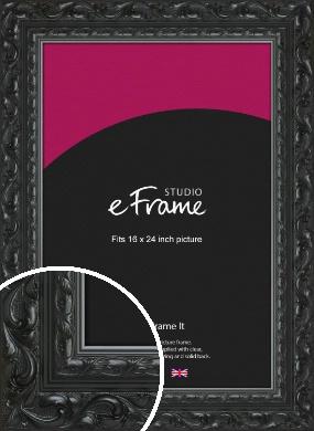 Embellished Black Picture Frame, 16x24