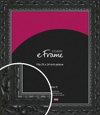 Embellished Black Picture Frame, 20x24