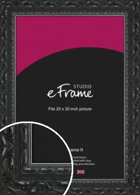 Embellished Black Picture Frame, 20x30