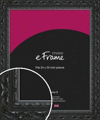 Embellished Black Picture Frame, 24x30