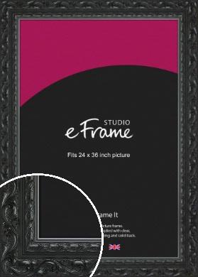 Embellished Black Picture Frame, 24x36