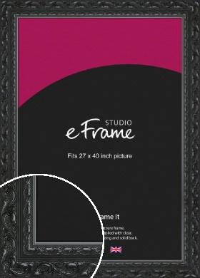 Embellished Black Picture Frame, 27x40