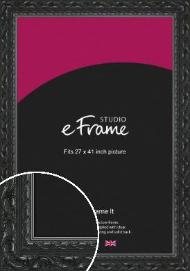 Embellished Black Picture Frame, 27x41