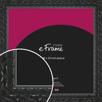 Embellished Black Picture Frame, 30x30
