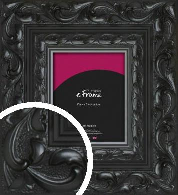 Embellished Black Picture Frame, 4x5