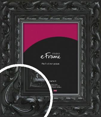 Embellished Black Picture Frame, 7x9