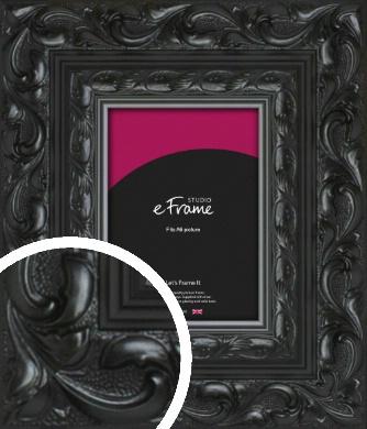 Embellished Black Picture Frame, A6 (105x148mm) (VRMP-1377-A6)