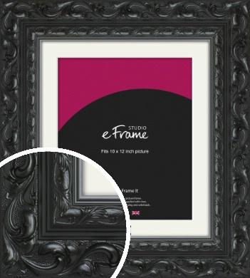 Embellished Black Picture Frame & Mount, 10x12