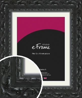 Embellished Black Picture Frame & Mount, 12x16