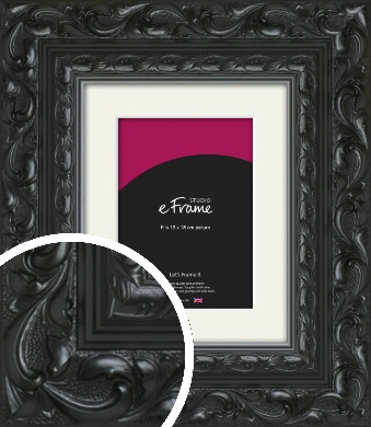 Embellished Black Picture Frame & Mount, 13x18cm (5x7