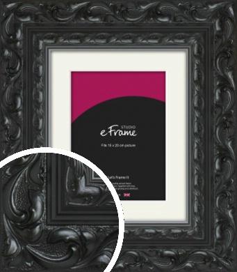 Embellished Black Picture Frame & Mount, 15x20cm (6x8