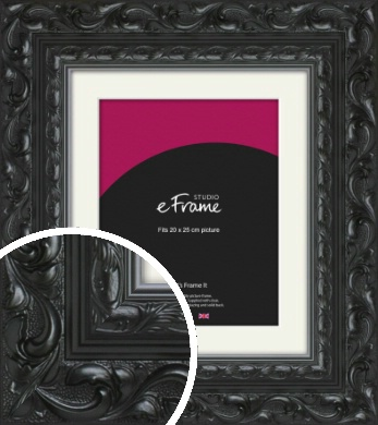 Embellished Black Picture Frame & Mount, 20x25cm (8x10