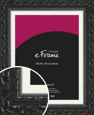 Embellished Black Picture Frame & Mount, 45x60cm (VRMP-1377-M-45x60cm)
