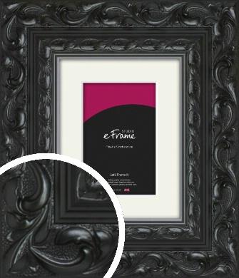 Embellished Black Picture Frame & Mount, 4x6