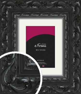 Embellished Black Picture Frame & Mount, 5x7