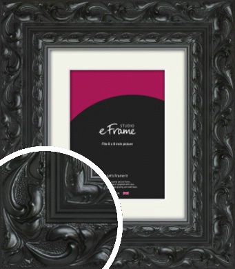 Embellished Black Picture Frame & Mount, 6x8