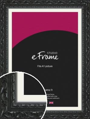Embellished Black Picture Frame & Mount, A1 (594x841mm) (VRMP-1377-M-A1)