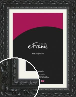 Embellished Black Picture Frame & Mount, A2 (420x594mm) (VRMP-1377-M-A2)