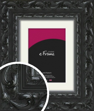 Embellished Black Picture Frame & Mount (VRMP-1377-M)