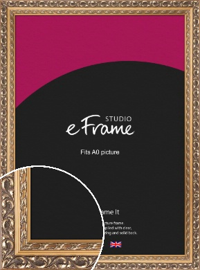 Multi Tone Rococo Gold Picture Frame, A0 (841x1189mm) (VRMP-720-A0)