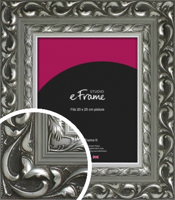 Sculpted Pale Silver Picture Frame, 20x25cm (8x10