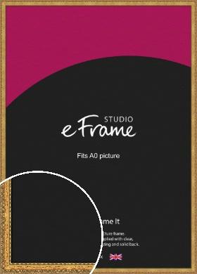 Antique Decorative Gold Picture Frame, A0 (841x1189mm) (VRMP-510-A0)