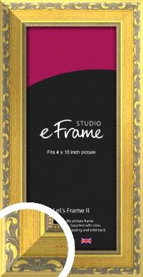 Embellished Gold Picture Frame, 4x10