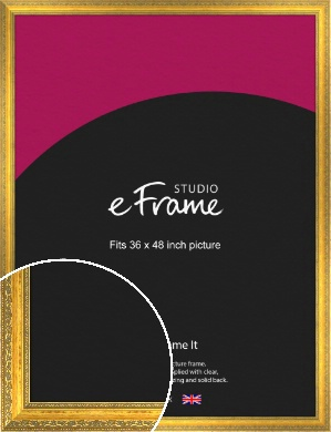 Overt Gold Picture Frame, 36x48