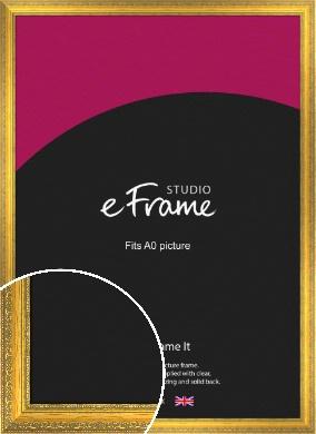 Overt Gold Picture Frame, A0 (841x1189mm) (VRMP-505-A0)