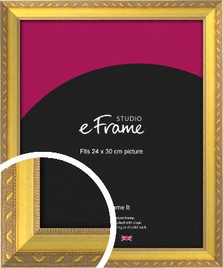 Repeating Decorative Pattern Gold Picture Frame, 24x30cm (VRMP-715-24x30cm)