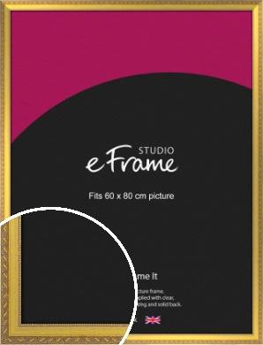 Repeating Decorative Pattern Gold Picture Frame, 60x80cm (VRMP-715-60x80cm)