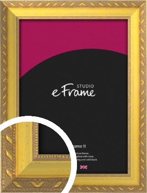 Repeating Decorative Pattern Gold Picture Frame (VRMP-715)