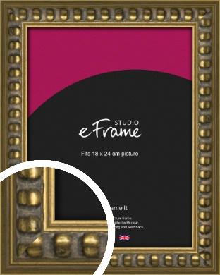 Bobble Gold Picture Frame, 18x24cm (VRMP-1386-18x24cm)