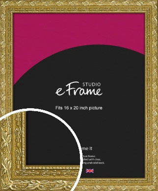 Arabesque Gold Picture Frame, 16x20