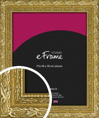 Arabesque Gold Picture Frame, 24x30cm (VRMP-1387-24x30cm)