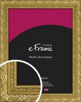 Arabesque Gold Picture Frame, 30x40cm (VRMP-1387-30x40cm)