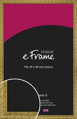 Arabesque Gold Picture Frame, 30x48