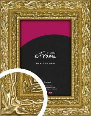 Arabesque Gold Picture Frame, 4x6