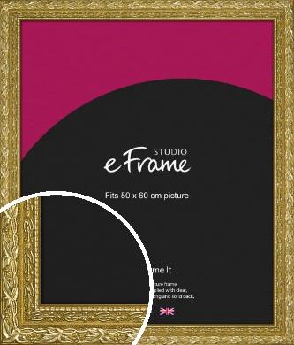 Arabesque Gold Picture Frame, 50x60cm (VRMP-1387-50x60cm)