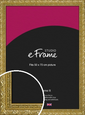 Arabesque Gold Picture Frame, 50x70cm (VRMP-1387-50x70cm)
