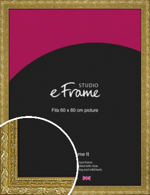 Arabesque Gold Picture Frame, 60x80cm (VRMP-1387-60x80cm)