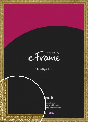 Arabesque Gold Picture Frame, A0 (841x1189mm) (VRMP-1387-A0)