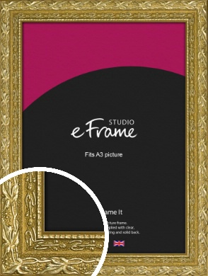 Arabesque Gold Picture Frame, A3 (297x420mm) (VRMP-1387-A3)