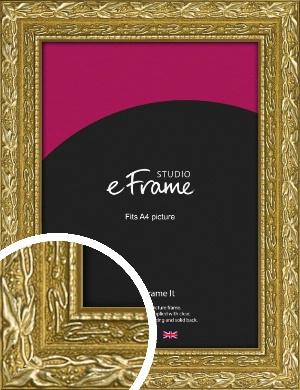 Arabesque Gold Picture Frame, A4 (210x297mm) (VRMP-1387-A4)