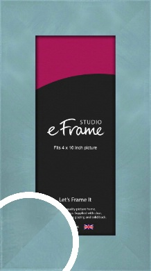 Two Tone Watermark Silver Picture Frame, 4x10