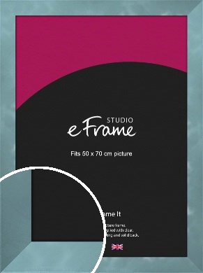 Two Tone Watermark Silver Picture Frame, 50x70cm (VRMP-A078-50x70cm)